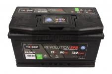 Autobatéria Maxgear 12V, 80Ah, EFB, 730A, + P - 85-0005