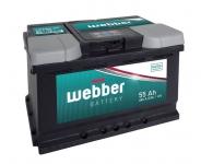 Autobatéria WEBBER 12V, 55AH, 460A + vľavo