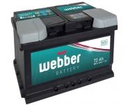 Autobatéria WEBBER 12V, 72AH, 640A
