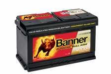 BANNER Running Bull AGM 12V 80Ah, 800A - 580 01